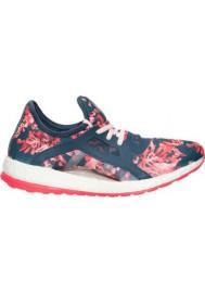 Adidas Sneaker Damen Pure Boost X Running AQ6682-BLP Mineral Blue/Halo Pink/Print