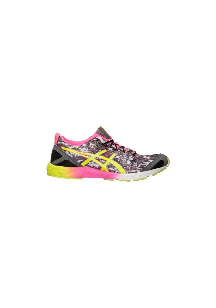 Laufschuhe Damen Asics GEL Hyper Tri Running T581N-990 Onyx/Yellow/Pink