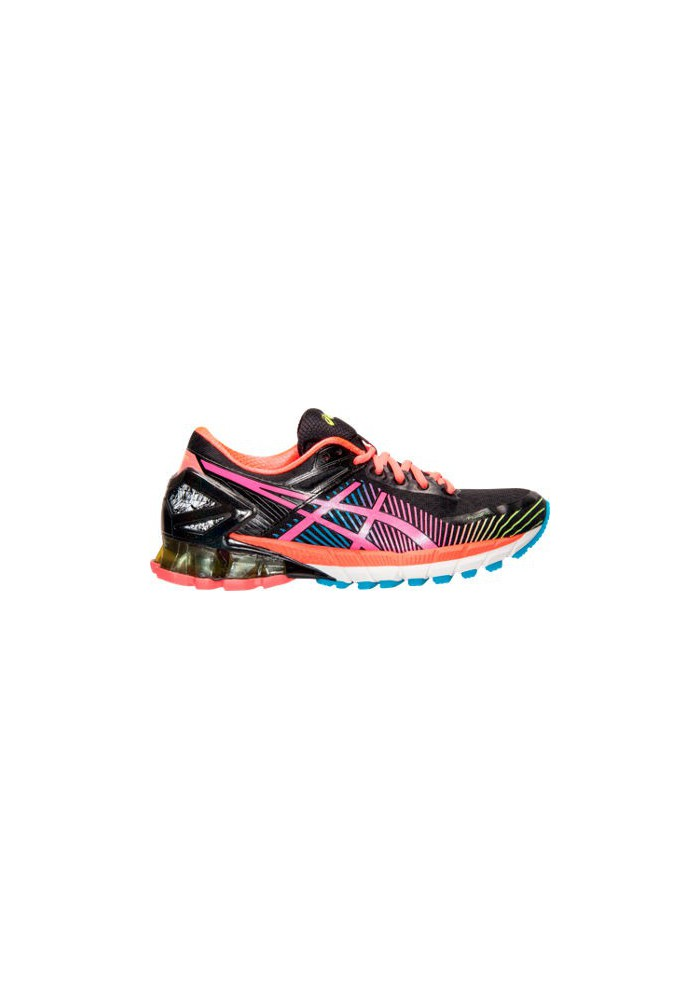 Asics Damen Sneaker GEL Kinsei 6 Running T692N-903 Black/Hot Pink/Flash Yellow