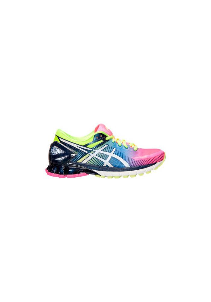 best sneakers 4425e 0eb95 Asics Damen Sneaker GEL Kinsei 6 Running T694N-340 Hot Pink/White/Flash  Yellow