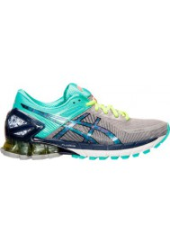 Asics Damen Sneaker GEL Kinsei 6 Running T692N-139 Gradient Grey/Turquoise/Yellow
