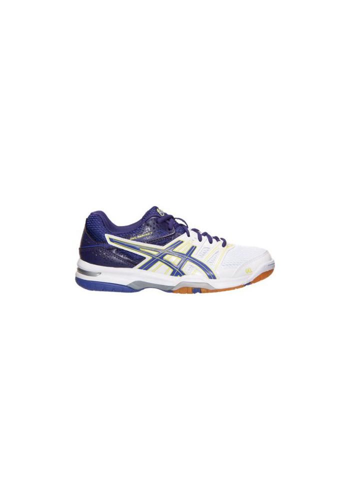 Asics Damen Sneaker GEL Rocket 7 Volleyball B455N-133 White/Purple