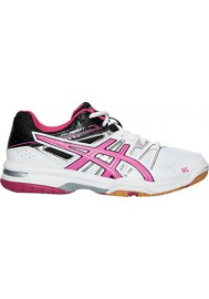 Asics Damen Sneaker GEL Rocket 7 Volleyball  B455N-012 White/Magenta/Black