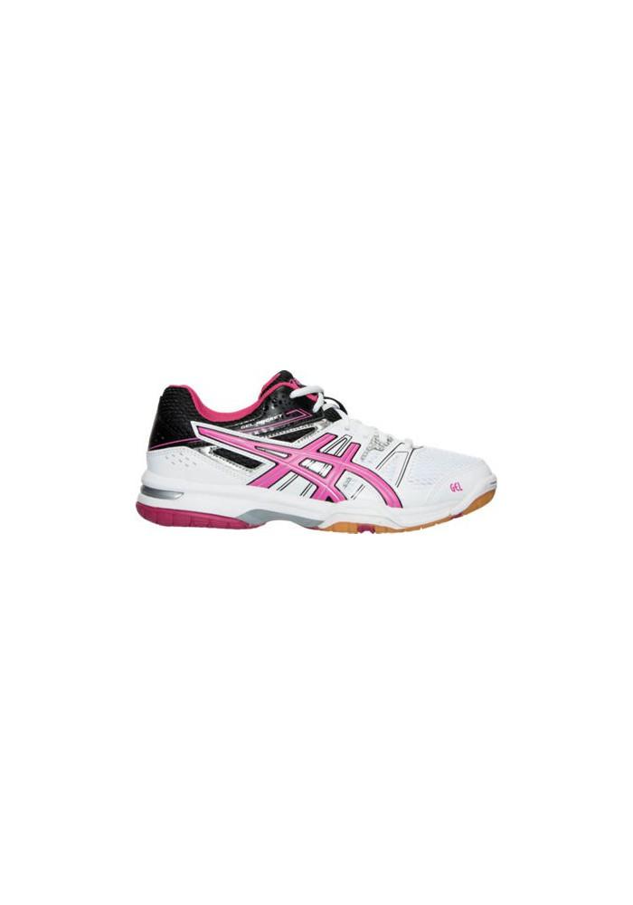 Asics Damen Sneaker GEL Rocket 7 Volleyball B455N-012 White/Magenta/Black