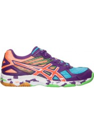 Asics Damen Sneaker GEL Flashpoint 2 Volleyball B456N-831 Purple/Orange/Neon Blue