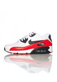 Nike Air Max 90 537384-116 Cuir Blanc Chaussure Running Hommes