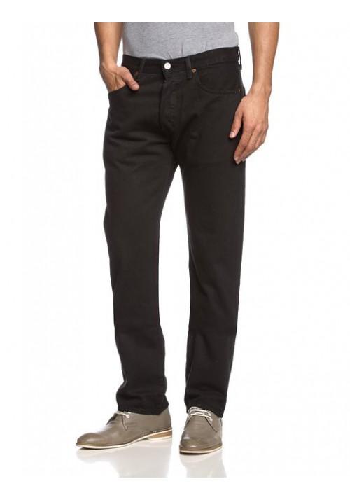 Levi's 501 Original Button Fly Noir Jeans 501-0660 Hommes