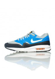 Baskets Nike Air Max Lunar 1 Bleu (Ref : 654469-001) Hommes Running