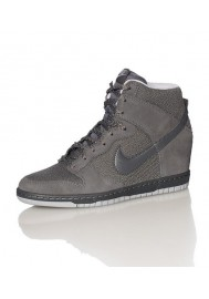 Baskets Haute Nike DUNK SKY HI ESSENTIAL WEDGE Grise (Ref : 644877-005) Femmes