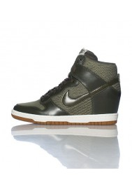 Baskets Haute Nike DUNK SKY HI ESSENTIAL WEDGE Verte (Ref : 644877-301) Femmes