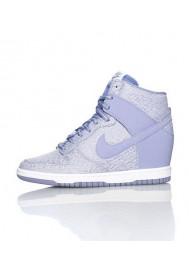 Baskets Haute Nike DUNK SKY HI TXT WEDGE Violet (Ref : 644410-500) Femmes
